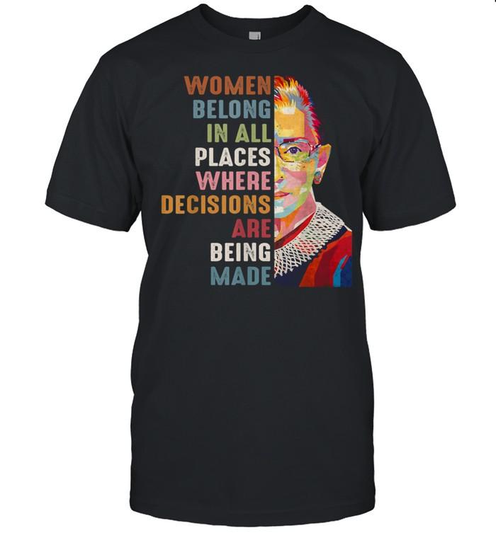 Women Belong In All Places Ruth Bader Ginsburg RBG shirt Classic Men's T-shirt