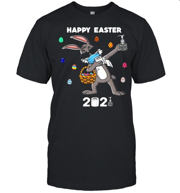 Dabbing Rabbit Easter Day Funny Boys Girls Kids Dab  Classic Men's T-shirt