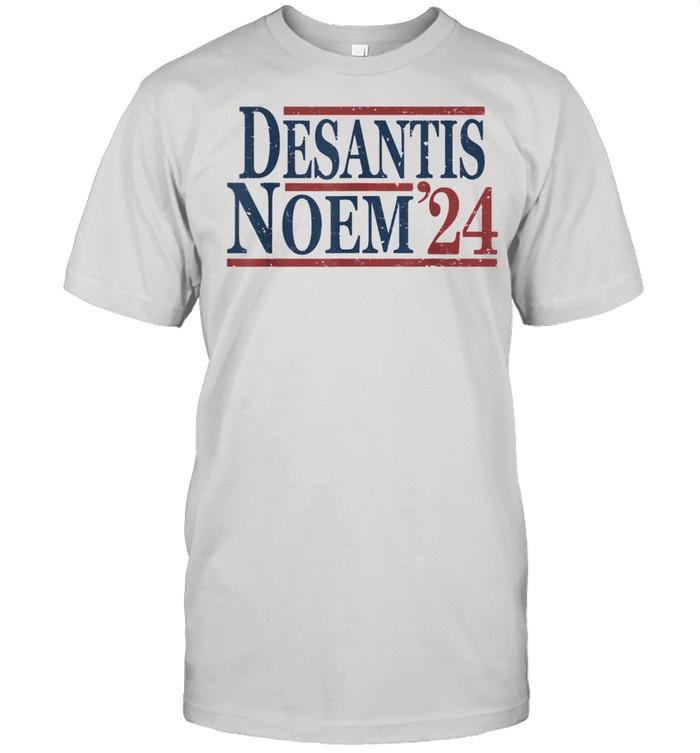 Vintage Ron DeSantis Kristi Noem 2024  Classic Men's T-shirt
