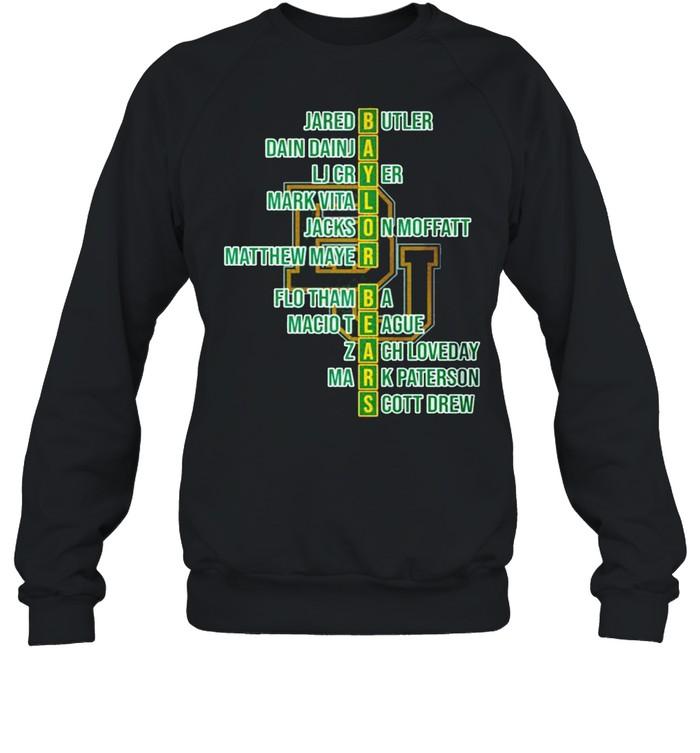 baylor bears jared butler dain dainja lj cryer mark vital shirt unisex sweatshirt