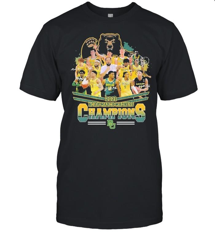 Baylor bears mens basketball 2021 ncaa march madness champions shirt Classic Men's T-shirt