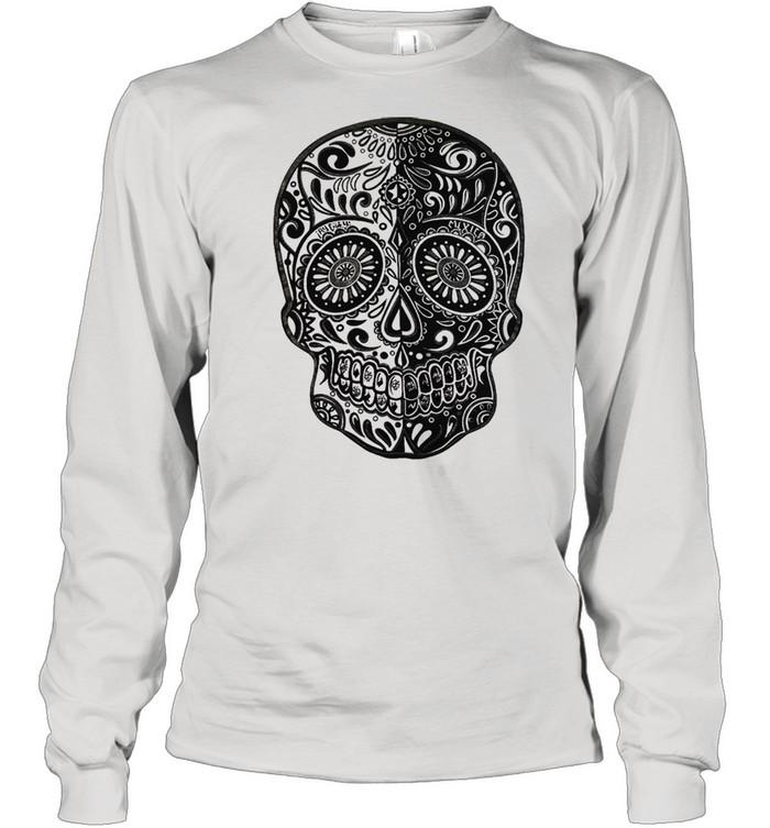 sugar skull shirt long sleeved t shirt