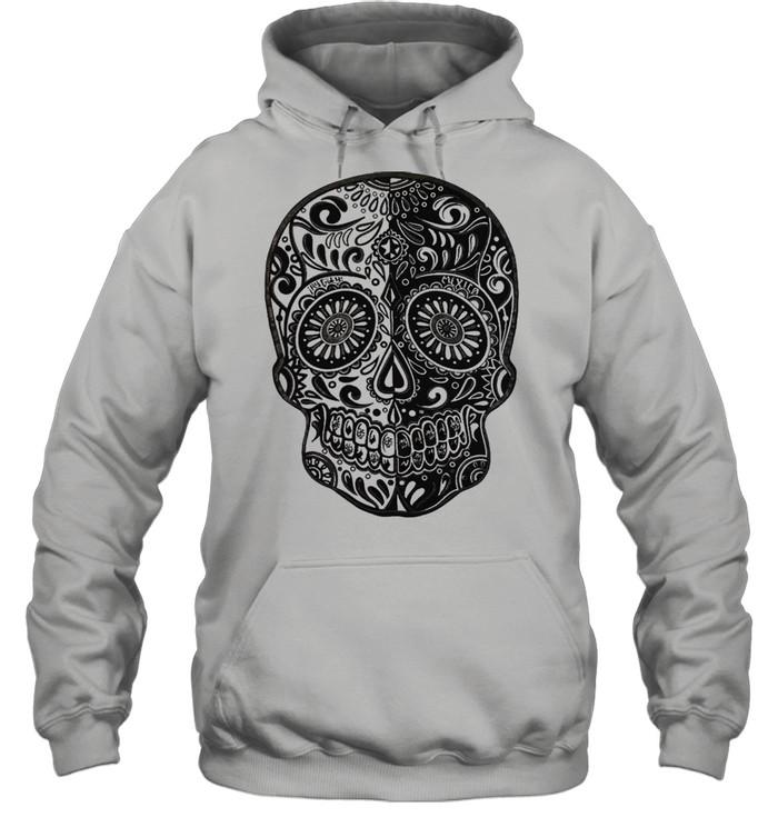 sugar skull shirt unisex hoodie