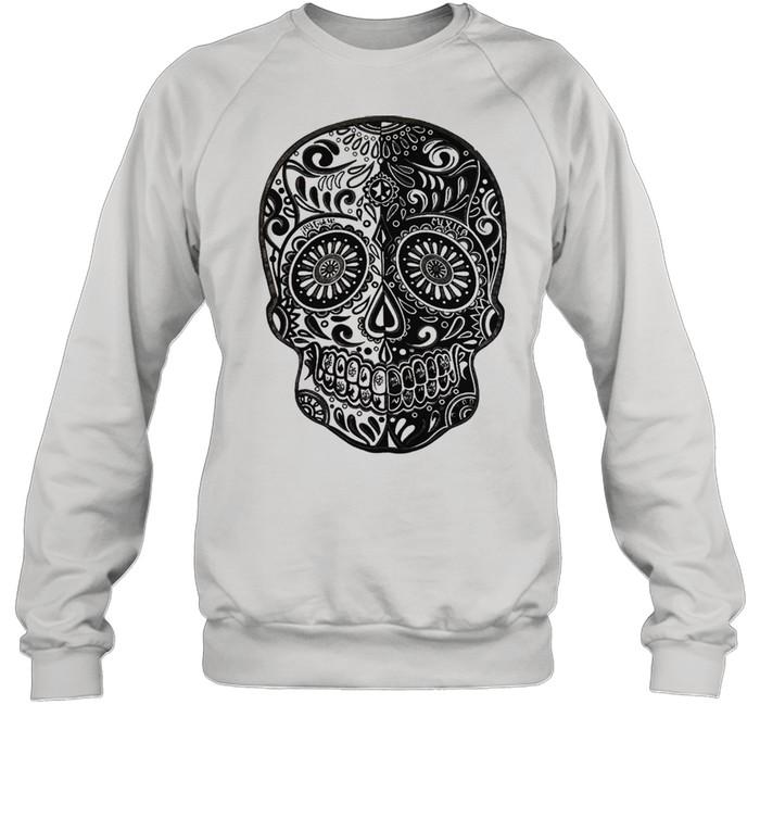 sugar skull shirt unisex sweatshirt