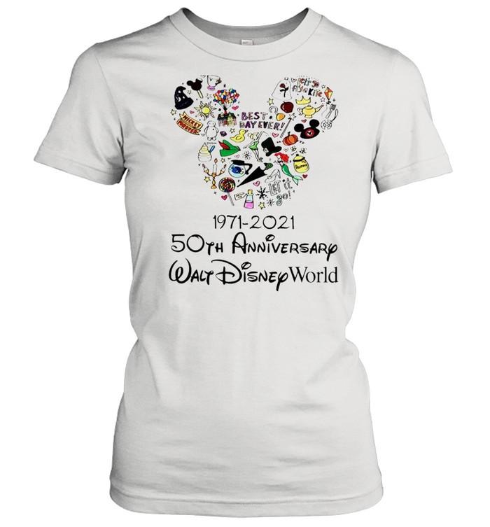 1971 2021 50th anniversary mickey mouse shirt classic womens t shirt