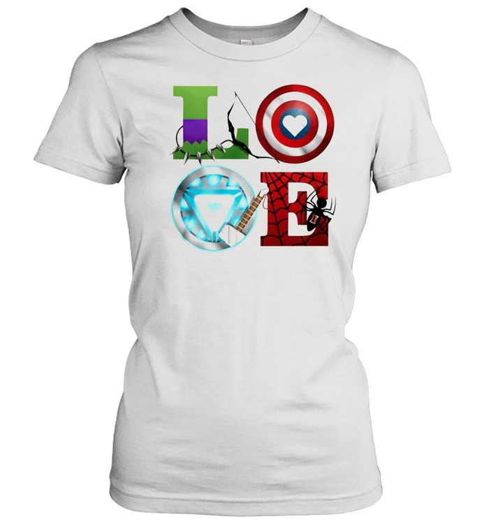 love marvel avengers shirt classic womens t shirt