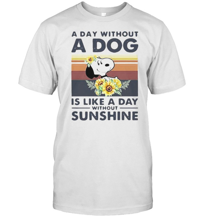 A day without a dog is like a day without sunshine snoopy sunflower vintage shirt Classic Men's T-shirt