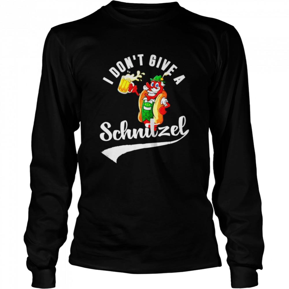 I don't give a Schnitzel shirt Long Sleeved T-shirt