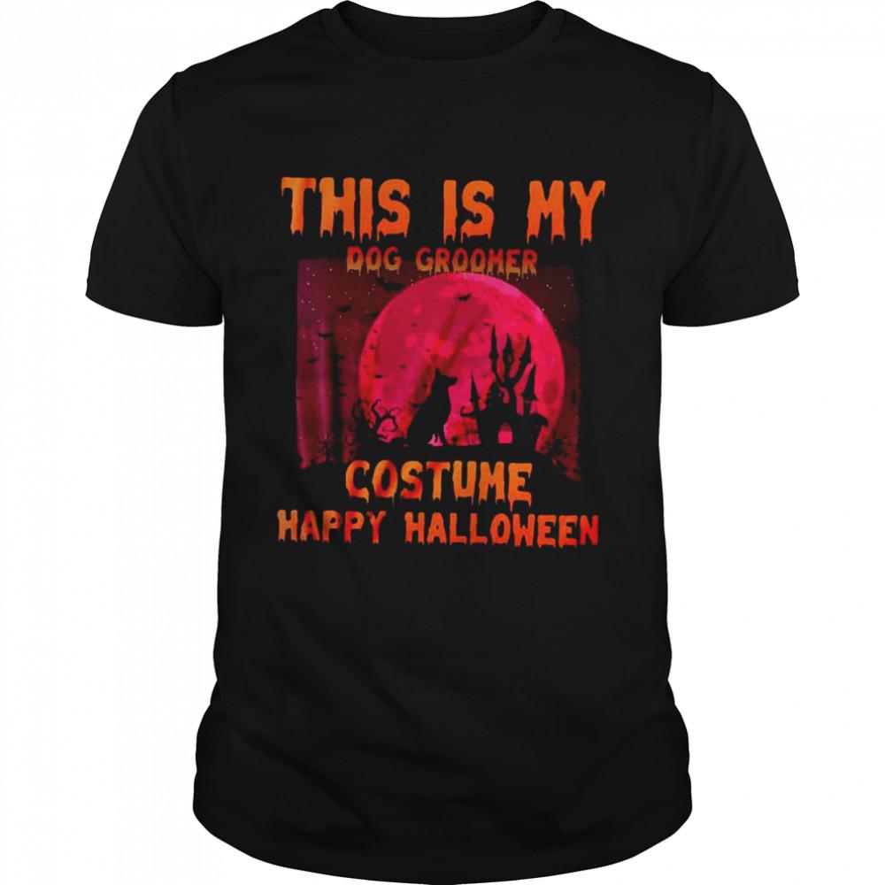 This Is My Dog Groomer Costume Happy Halloween T-shirt Classic Men's T-shirt