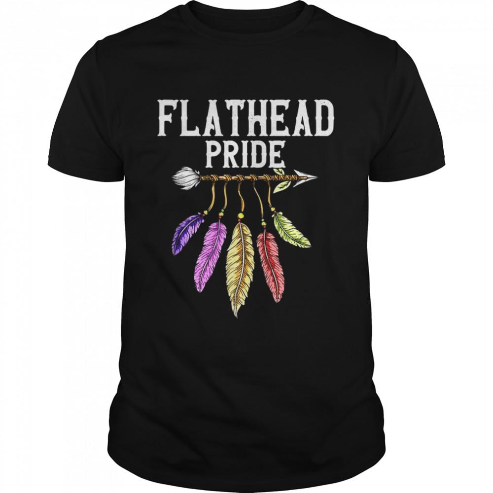 Flathead Native American Girl Flathead Female Related T-shirt Classic Men's T-shirt